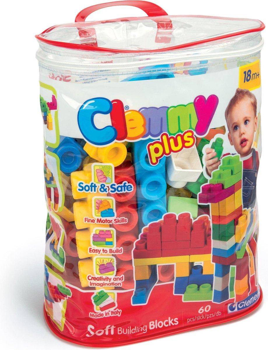Clementoni Clemmy Plus tas met 60 zachte blokken