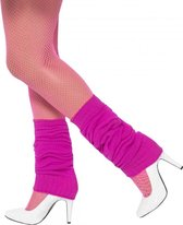 Fuchsia/Fel roze beenwarmers - Verkleed accessoires - Feest artikelen - Themafeest