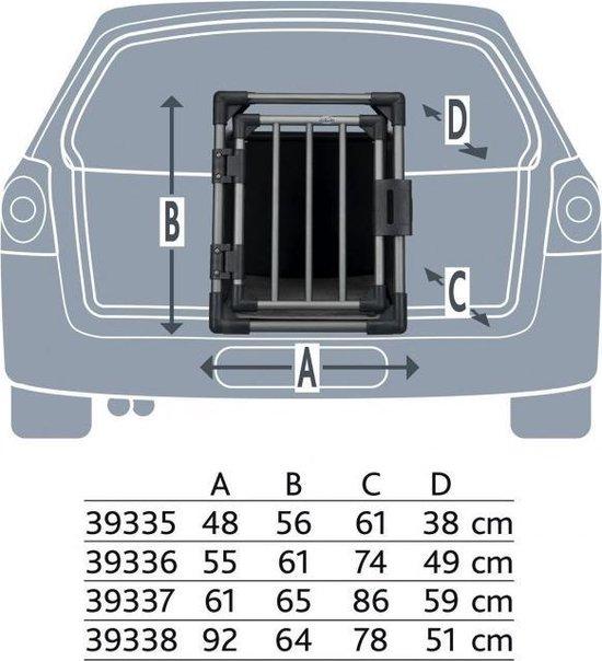 Trixie Aluminium Transportbox - Grafiet - M-L - 61 x 65 x 86 cm