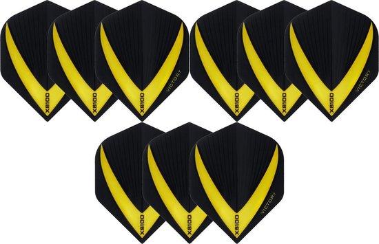Dragon darts 3 sets (9 stuks) Super Sterke - Geel - Vista-X - flights - darts flights