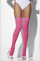 Neon roze kniekousen voor dames