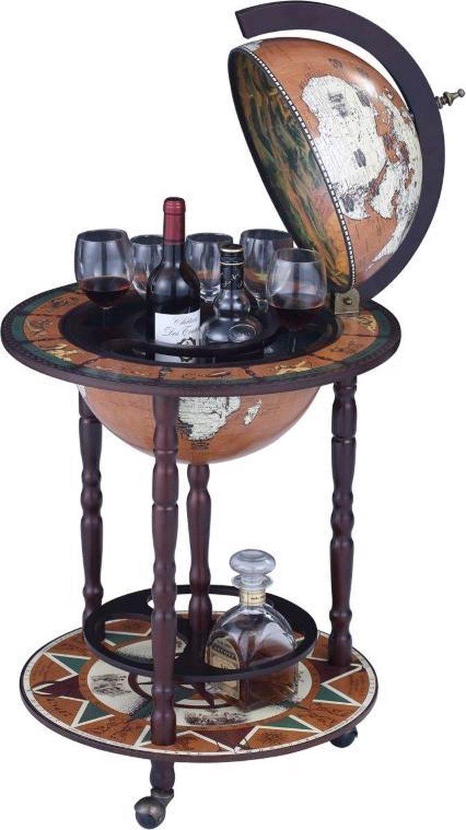 Brulo - Wereldbol - Globebar - Humboldt barglobe - 45 cm - Brulo