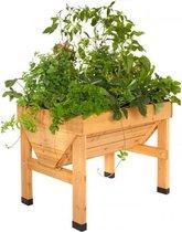Verhoogde kweektafel Vegtrug - 1 x 0,8 x 0,8 m - ideaal om groenten en kruiden te kweken
