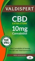 Valdispert CBD Extra Sterk 10 mg Cannabidiol - 25 Tabletten