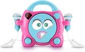 Bigben Draagbare Karaoke CD-Speler - 2 Microfoons - Roze/Blauw