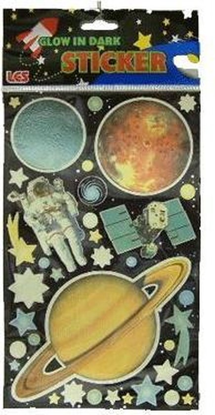 Glow in the dark stickers planeten