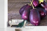Fotobehang vinyl - Bos van baby aubergines breedte 540 cm x hoogte 360 cm - Foto print op behang (in 7 formaten beschikbaar)
