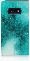 Samsung Galaxy S10e Uniek Standcase Hoesje Painting Blue