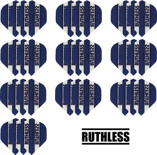 Dragon darts - 10 Sets (30 stuks) - Ruthless - sterke flights - Blauw - darts flights