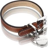 Hennessy and Sons Royal - Hondenhalsband - Roodbruin - maat M
