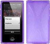 TPU Flex Bescherm-Hoes Skin Hoesje voor iPod Nano 7 7G Paars