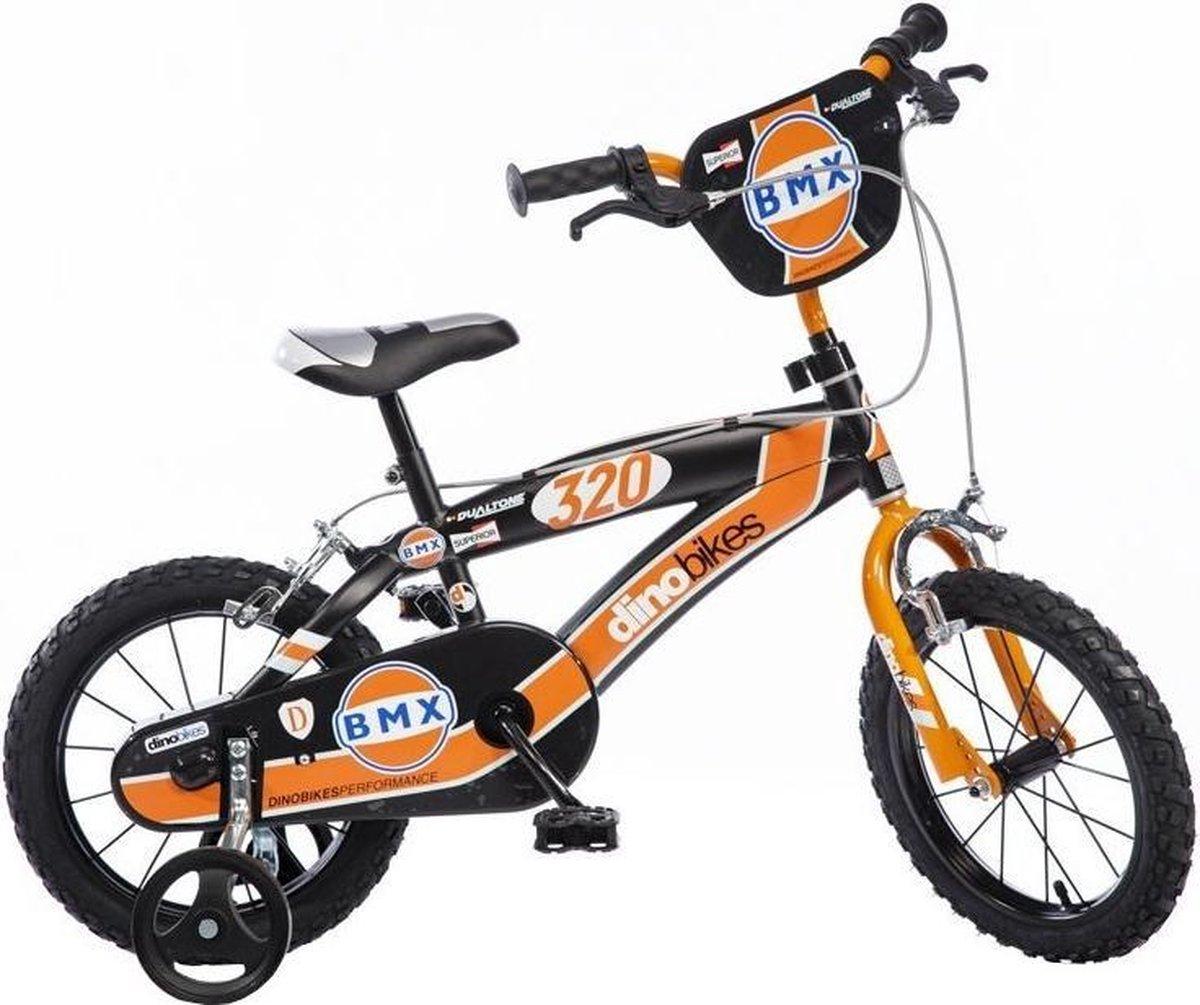 Dino BMX Kinderfiets Jongens 16 inch Black Orange online kopen
