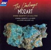 Mozart: String Quartet, String Quintet / Lindsays, Williams