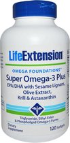 Life Extension Super Omega met Krill & Astaxanthine - 120 gelcapsules - Visolie - Voedingssupplement