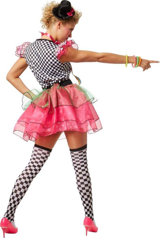 | dressforfun 301677 Vrouwenkostuum Neon Clown voor