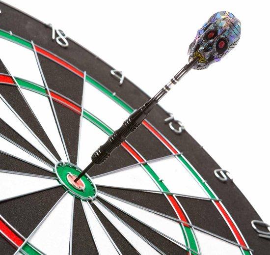 Thumbnail van een extra afbeelding van het spel #DoYourDart - 3x Steeldarts   - »SilverSkull« - incl. case.  nikkelen barrel   Plastic Shafts, PET flights - Gewicht van de darts: 22g - zwart