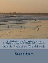 30 Subtraction Worksheets with 2-Digit Minuends, 2-Digit Subtrahends