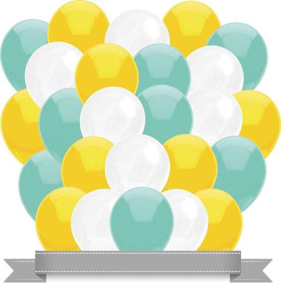 Ballonnen Mint / Wit / Geel (30ST)