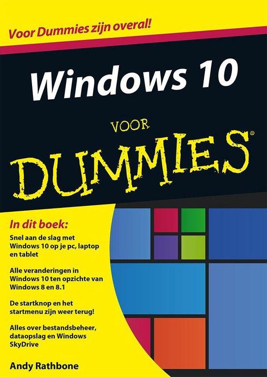 Windows 10 voor Dummies - Andy Rathbone  