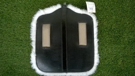 Maagbeschermer zwart met bont