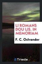 Li Romans Dou Lis. in Memoriam