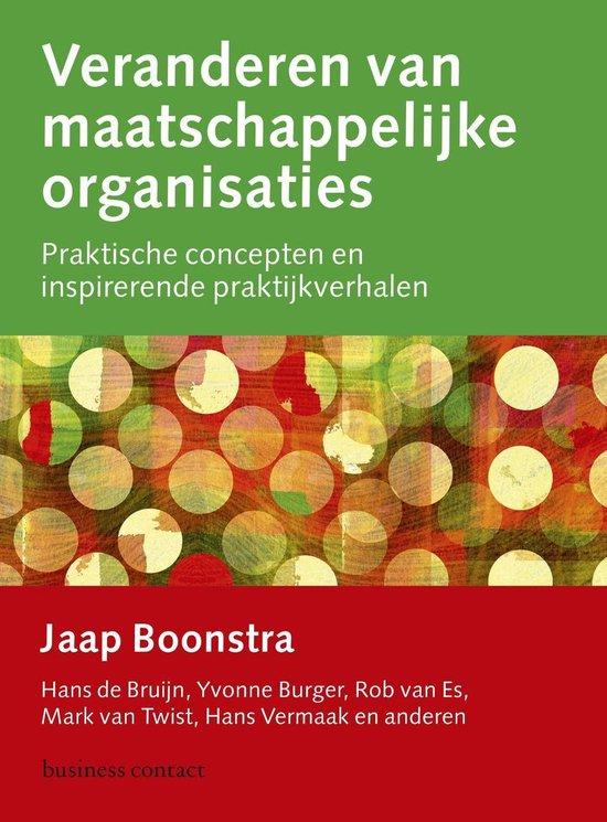 Boek cover Veranderen van maatschappelijke organisaties van Jaap Boonstra (Onbekend)