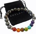 Elastische chakra armband met labradoriet natuursteen – Rhylane