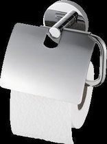 Haceka Pro 2000 Toiletrolhouder met klep chroom