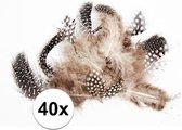 40x Decoratie dons veren