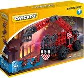 Twickto constructiespeelgoed – Brandweerauto / Brandweerwagen & Brandweer helikopter – speelgoed (6 - 99 jaar) – Constructie bouwset / bouwspeelgoed – Set Emergency #1 – 89 Delig