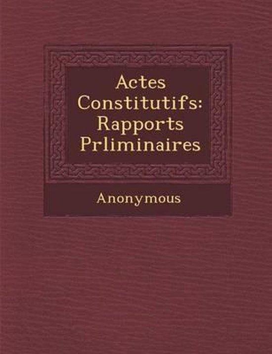 Actes Constitutifs