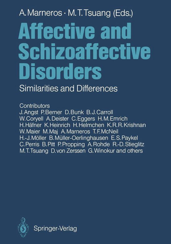 Boek cover Affective and Schizoaffective Disorders van M.T. Tsuang (Onbekend)