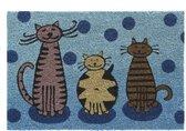 Kokosmat met print / Cats 413 / 40 cm x 60 cm /