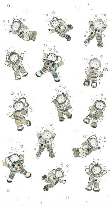 Fotobehang - Astronaut - Hanneke de Jager - Wit/Grijs - 150x280 cm