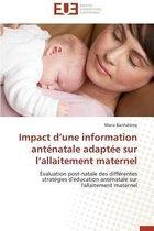 Impact D Une Information Ant�natale Adapt�e Sur L Allaitement Maternel