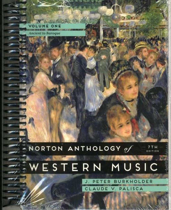 CD cover van The Norton Anthology of Western Music, Volume 1: Ancient to Baroque van J. Peter Burkholder