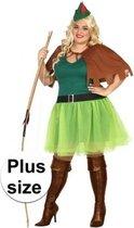 Grote maten Robin Hood kostuum 4-delig voor dames XXL (46-48) - verkleedpak