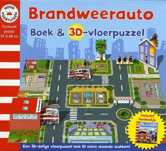 Brandweerauto boek en 3D-vloerpuzzel - Diverse auteurs  