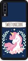 Galaxy A70 Hardcase hoesje Sweet Unicorn