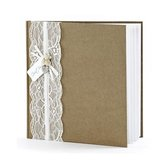 Bruiloft gastenboek vintage 20,5 cm - Huwelijk receptieboek