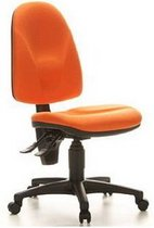 Bureaustoel - Stof - Oranje - Ergonomisch