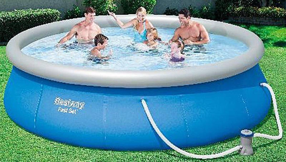 3.96M x 84cm Fast Set Pool+Pomp