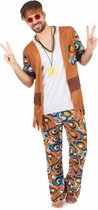 LUCIDA - Flower power outfit voor heren - M - Volwassenen kostuums