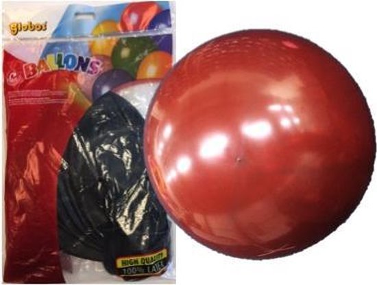 Topballon kristal bordeaux (Ø91cm, 6st)