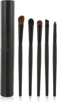 5-delige Make-up Kwasten/Brush Set + Koker - Zwart | Fashion Favorite