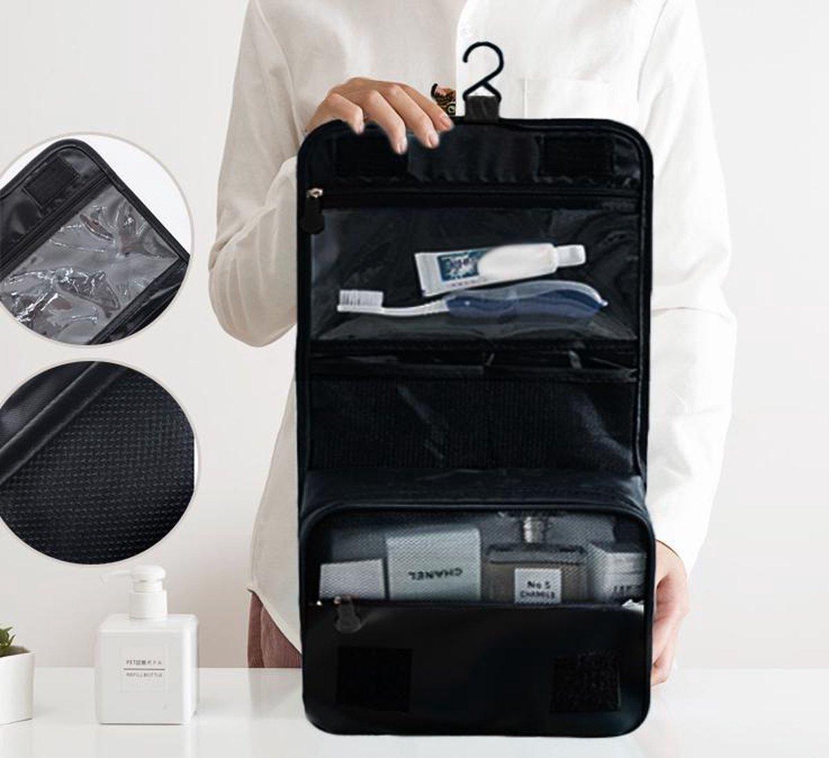 Beefree toilettas | zwart | koffer organizer | opgeruimde koffer | make-up tasje | Zwart