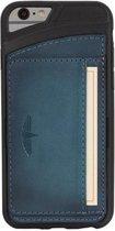GALATA® Echte Lederen Slim-stand TPU back cover voor iPhone 6 / 6S PLUS gebrand blauw