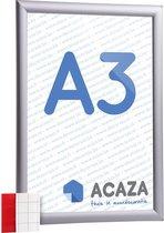 Acaza Kliklijst - A3 Formaat - Aluminium - Grijs - Inclusief beschermfolie