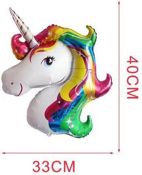 2 stuks eenhoorn / unicorn  helium ballonnen 40 x 33 cm