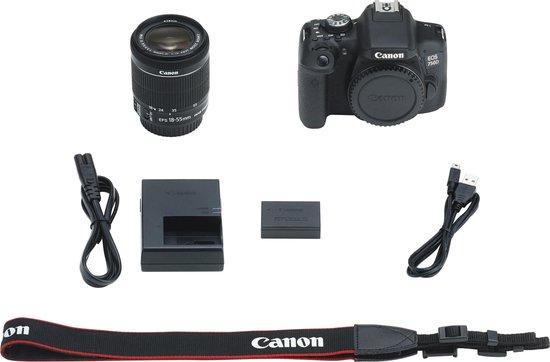 Canon EOS 750D + 18-55mm IS STM - Zwart
